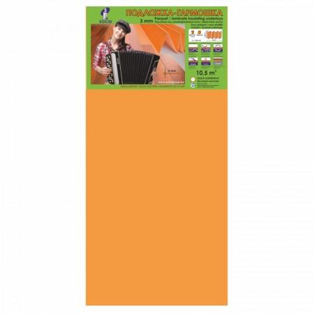 Подложка Солид, Оранжевая Quick  гармошка, 3 мм