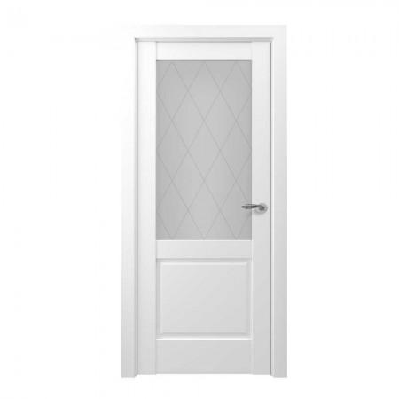 """Полотно дверное, Zadoor-S Classic, """"Венеция Белый матовый Сатинато""""  СТ., 2000х800"""