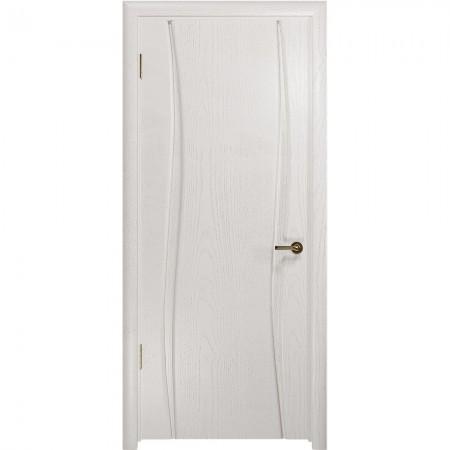 """Полотно дверное, СТАЙЛ, Вэла-2 """"Ясень белый"""" Г., 2000*600"""