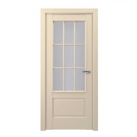 """Полотно дверное, Zadoor-S Classic, """"Турин Матовый кремовый Сатинато""""  СТ., 2000х800"""