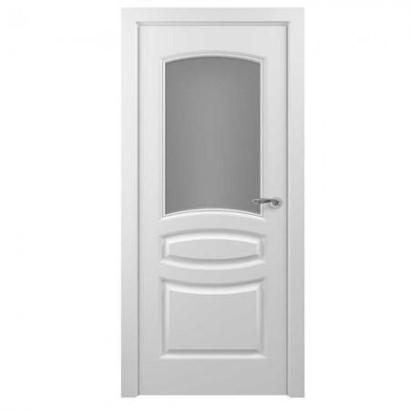 """Полотно дверное, Classic Эмаль NEW, """"Этюд Белый Сатинато""""  СТ., 2000х800"""