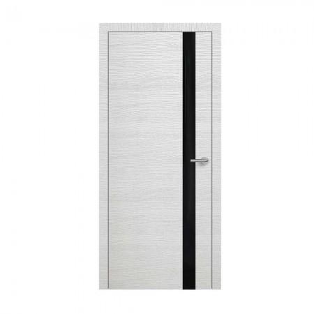 """Полотно дверное, Horizont, """"Н2 Окаша Сильвер Чёрный лакобель """"  СТ., 2000х900"""