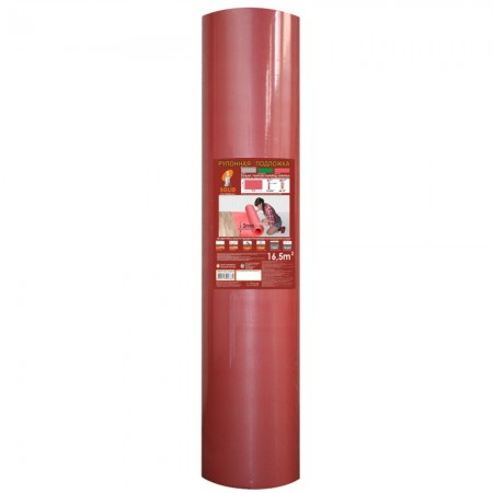 Подложка Солид, Красная рулонная, 2 мм
